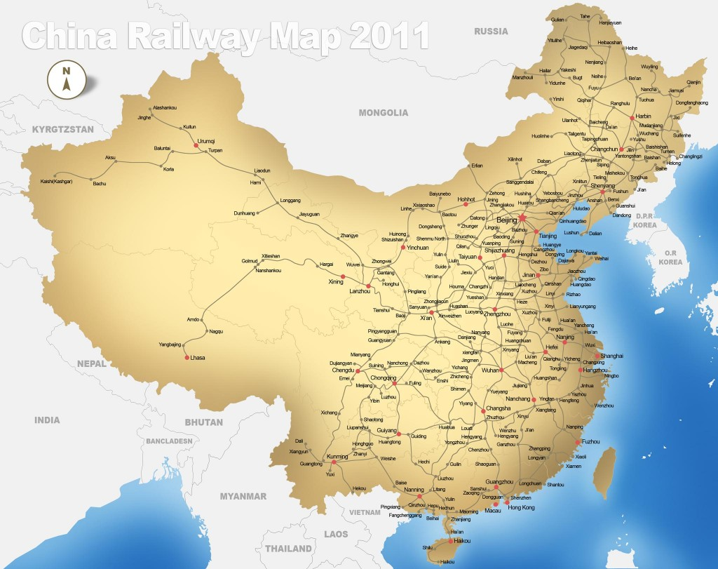 Carte Train Chine