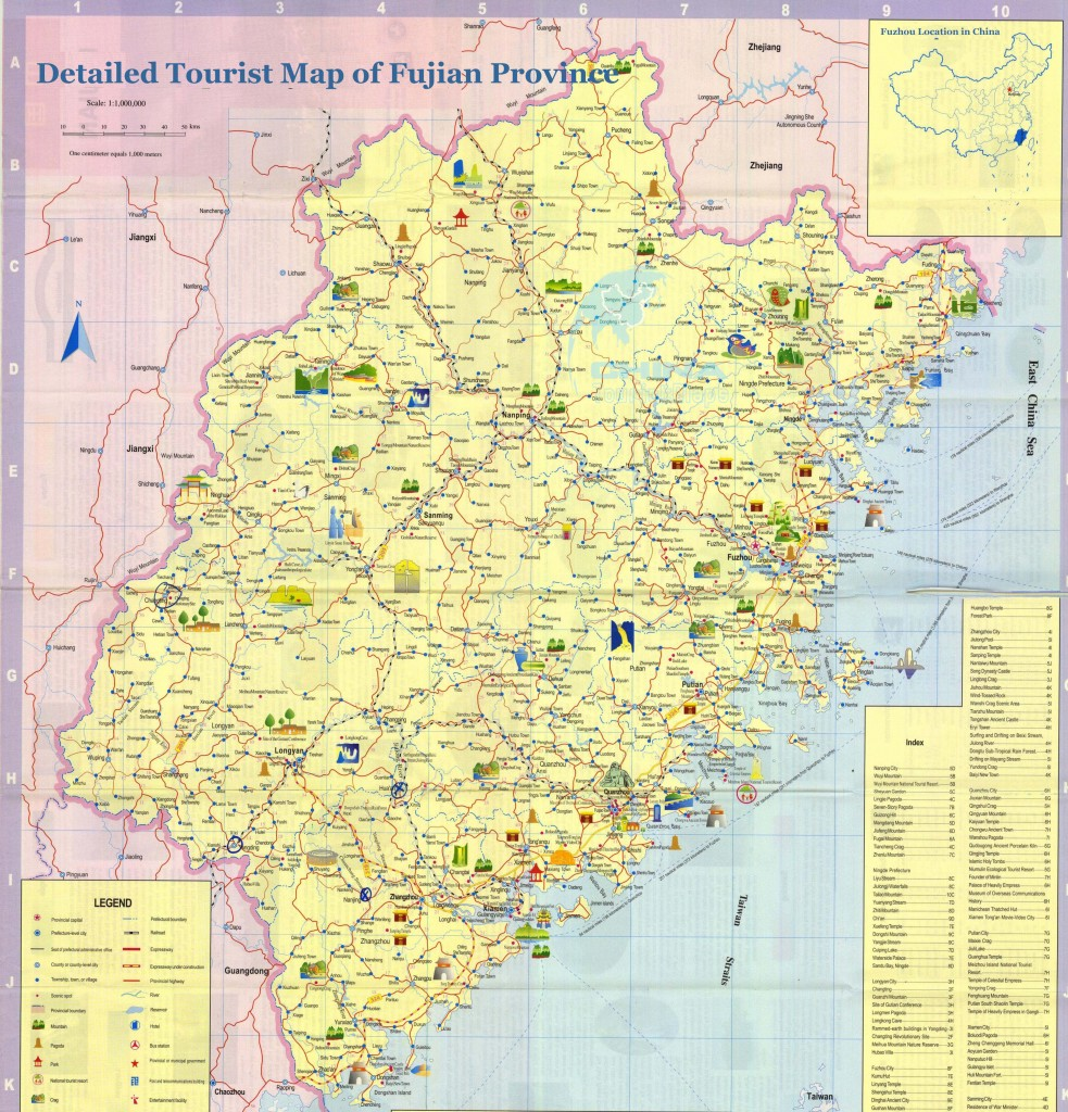 Carte Fujian