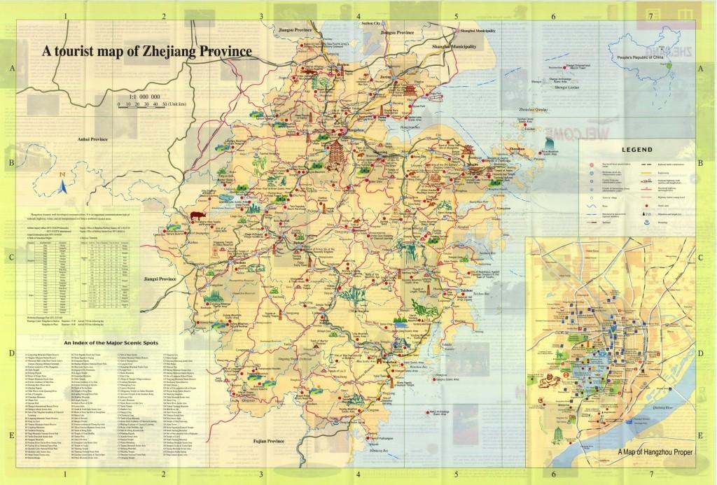 carte touristique zhejiang